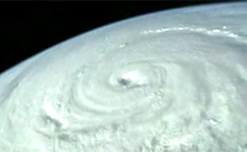 View of a hurricane taken from space
