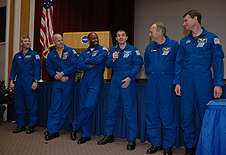 The crew of STS-122 talk about the launch and mission.