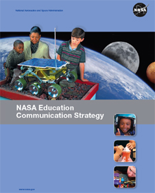 The cover of the NASA Education Communication Strategy brochure