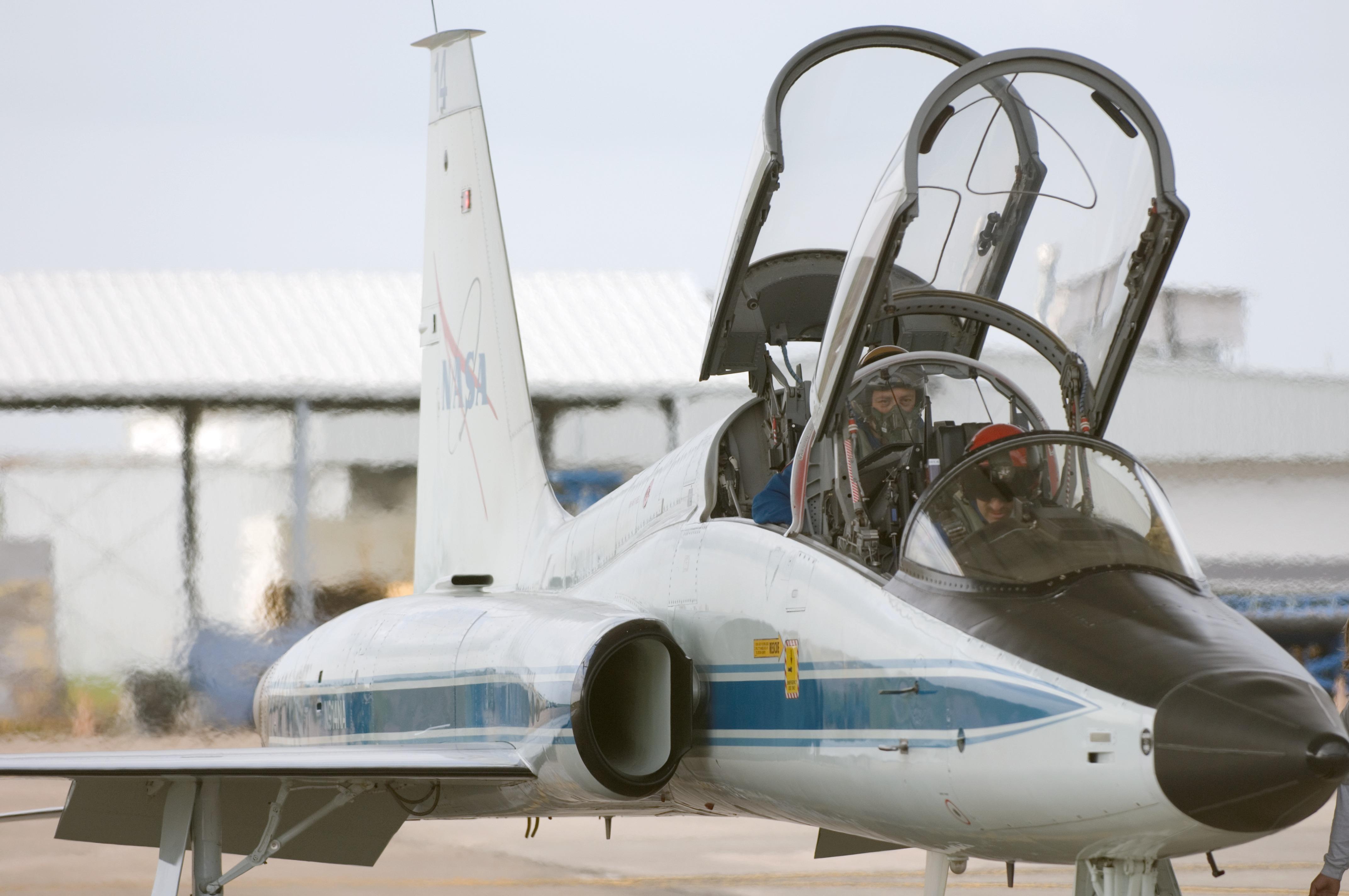 NASA - Astronauts Prepare for a Flight in a NASA T-38 ...