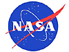 Red, white and blue NASA logo