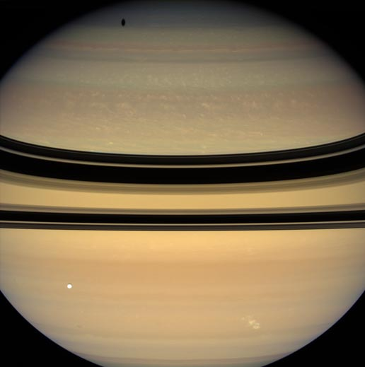 Lightning-producing storm on Saturn