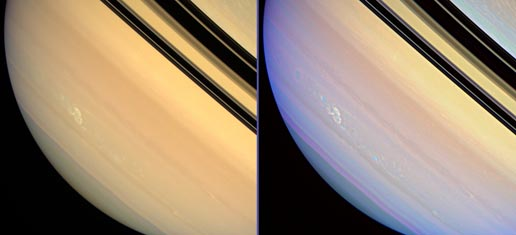 Electrical storm on Saturn