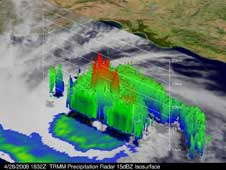 3D TRMM image of Tropical Cyclone Nargis on April 28, 2008.
