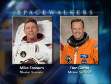 STS-124 spacewalkers Mike Fossum and Ron Garan. Image from NASA STS-124 EVA Briefing Graphics