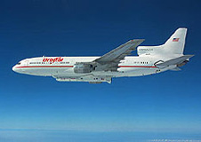 The L-1011 carries the Pegasus XL rocket to the drop sight
