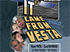 The faces of four scientists next to the words 'IT Came From Vesta'