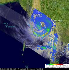 TRMM image of Tropical Cyclone Nargis on May 3, 2008
