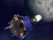 Lunar crater observation and sensing satellite