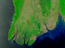 Satellite image of Myanmar