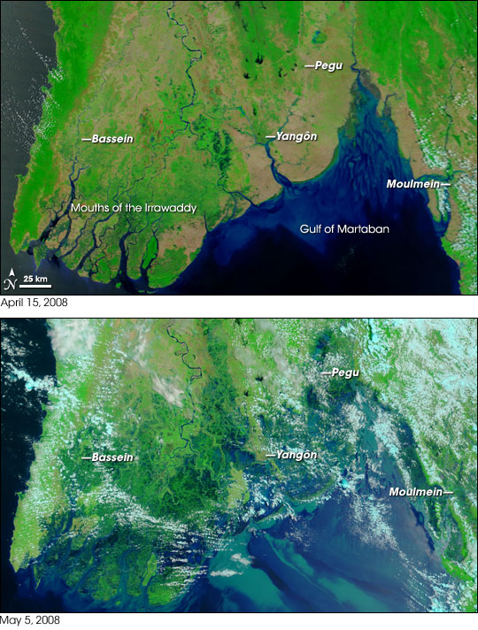 Myanmar before and after Nargis
