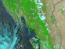 Satellite image of Burma