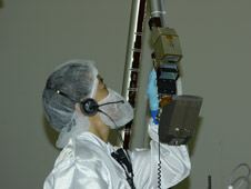 engineer checks robotic arm of Phoenix