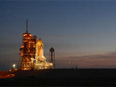 Space shuttle Discovery at Launch Pad 39A