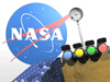 Artist concept of NASA logo and SDO
