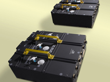 Two battery modules containing 3 batteries each destined for Hubble