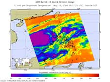 AIRS image of Tropical Storm Halong