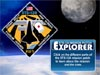 Graphic for STS-124 Mission Patch Explorer with the moon in the background