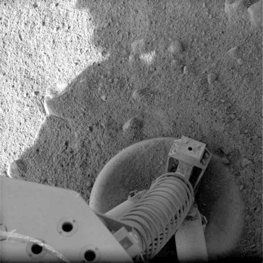 NASA/JPL-Caltech/University of Arizona: Phoenix står på sikker grund.