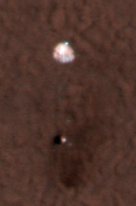 NASA - Color Image of Phoenix Parachute on Mars Surface