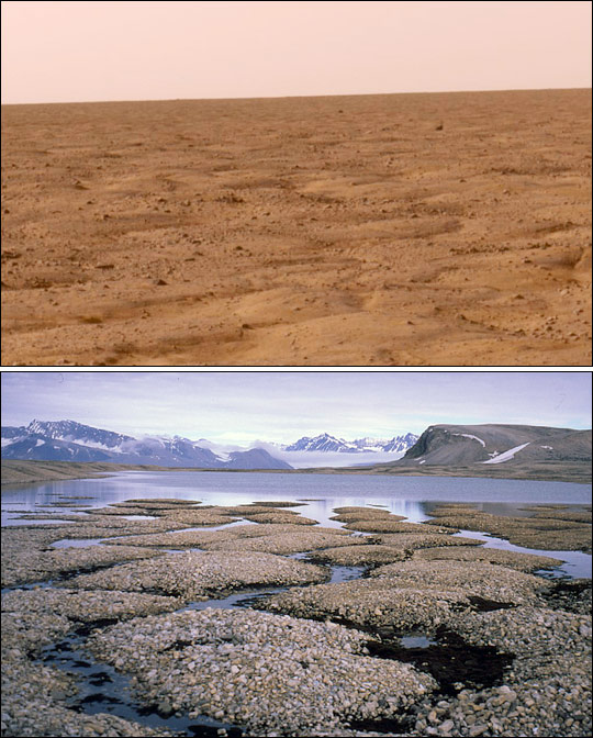 Permafrost on Mars and Earth