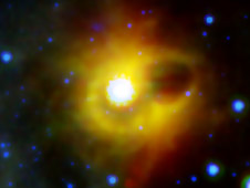 ghostly ring extending seven light-years across around the corpse of a massive star