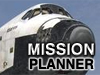The words Mission Planner in front of an image of the nose of the space shuttle