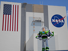 Buzz Lightyear at NASA's Kennedy Space Center
