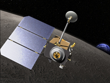 Artistic drawing of the LRO spacecraft