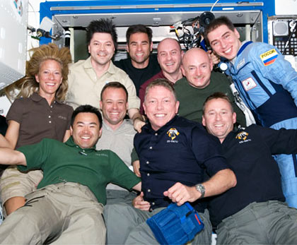The STS-124 and Expedition 17 crews