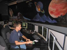 Student working in the GAVRT control room