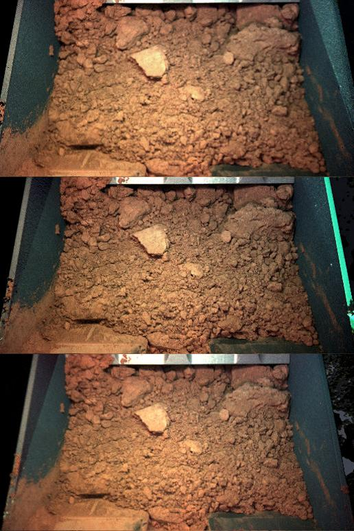 Color Views of Soil Scooped on Sol 9