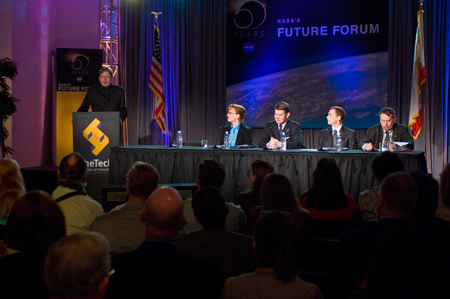 Panel discussion at the San Jose Future Forum.