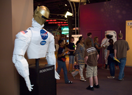 Robonaut exhibit.
