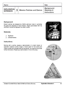 The Exploration Extension 3: Mission Patches and Demos activity
