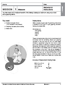 The first page of the Mission 1: Measure activity