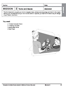 The first page of the Mission 3: Turns and Mazes activity