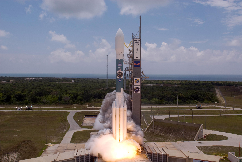 Launch Of GLAST Aboard A Delta II Rocket