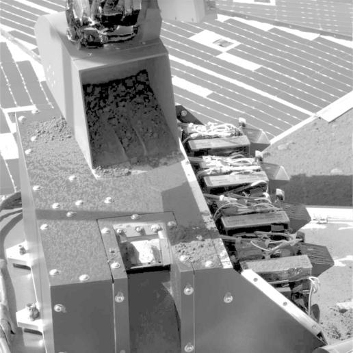 First Sample Delivery to Mars Microscope