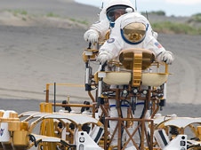 Spacesuit and rover testing