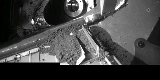 Robotic Arm Camera Image of the South Side of the Thermal and Evolved-Gas Analyzer (Door TA4 receiving sample)