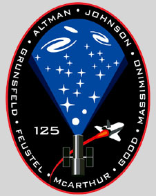 sts125-s-001: STS-125 mission insignia