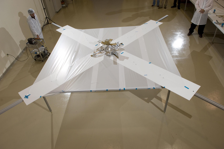 Nasa Nanosail D Deployment Sail Unfurls