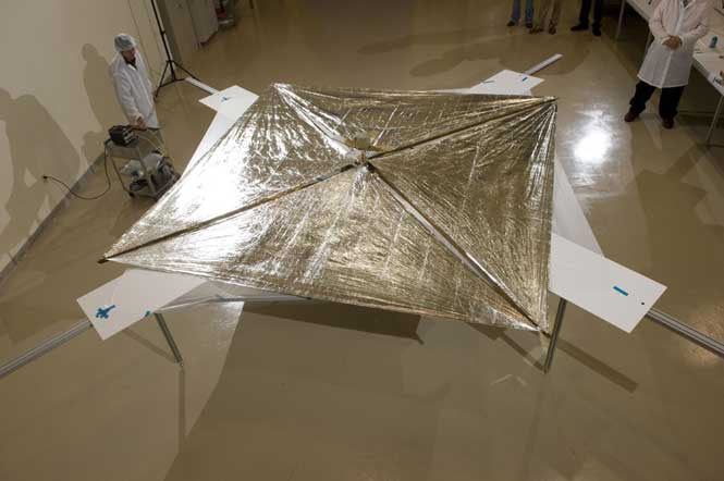 Fully deployed, the NanoSailS sail area measures 107 square feet.