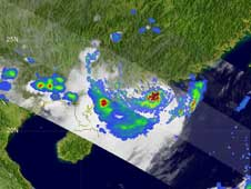 TRMM image of Fengshen taken on June 24, 2008