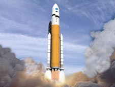 Artist concept of Ares V launch