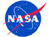 The round red, white and blue NASA insignia