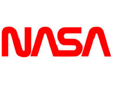 The word NASA in a unique typeface
