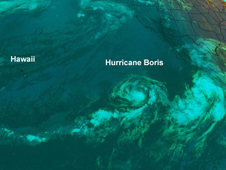 Hurricane Boris in the Pacific Ocean
