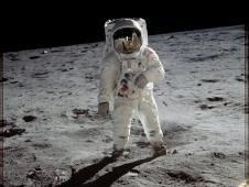 Aldrin on the surface of the moon